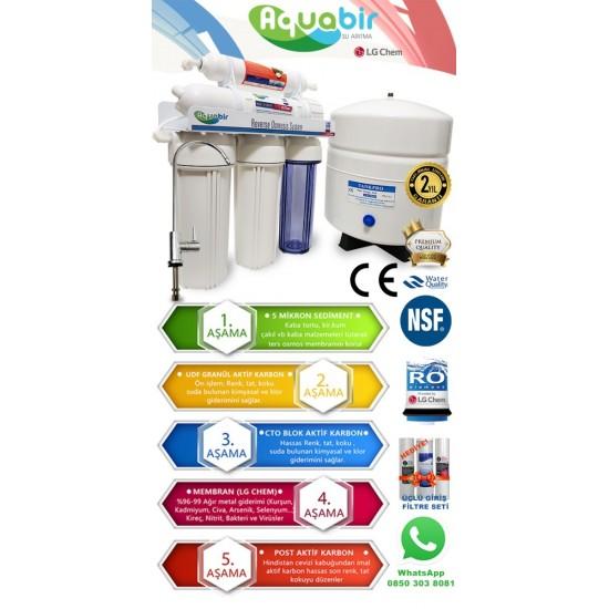 Aquabir 5 Aşamalı LG Membranlı Su Arıtma Cihazı