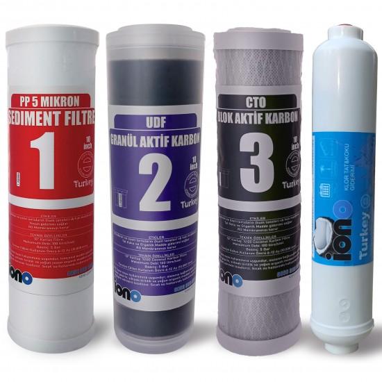 IONO  4 Aşamalı  Açık Kasa Su Arıtma Filtre Seti