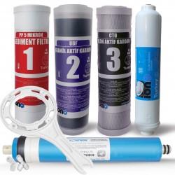 IONO  5 Aşamalı VONTRON Membranlı Açık Kasa Su Arıtma Filtre Seti