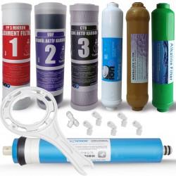 IONO  7 Aşamalı VONTRON membranlı Mineral ve Alkali Filtreli Açık Kasa Su Arıtma Filtre Seti