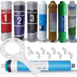 IONO  8 Aşamalı VONTRON membranlı Detox-Alkali ve Mineral Filtreli Açık Kasa Su Arıtma Filtre Seti