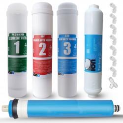 IONO  5 Aşamalı Standart Membranlı Inline 12 Inch Kapalı Kasa Su Arıtma Filtre Seti