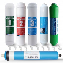 IONO  6 Aşamalı VONTRON Membranlı Alkali Inline 12 Inch Kapalı Kasa Su Arıtma Filtre Seti